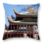 Corners Of A Temple In Grand Prairie Texas Throw Pillow
