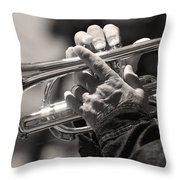Cornet In Sepia Throw Pillow