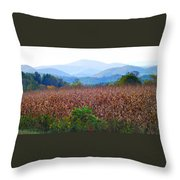 Cornfield In The Mountains Throw Pillow