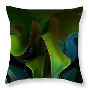Cornflower Glass Managerie Throw Pillow