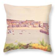 Cornish Harbour Throw Pillow