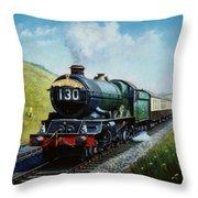 Cornish Riviera To Paddington. Throw Pillow by Mike  Jeffries