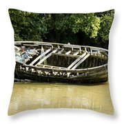 Cornish Shipwreck Throw Pillow