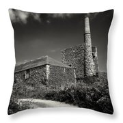 Cornish Tin Mine. Throw Pillow