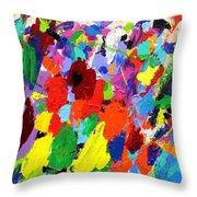 Cornucopia Of Colour I Throw Pillow