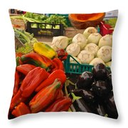 Cornucopia's Abundance Throw Pillow