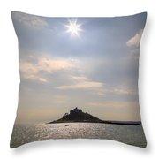Cornwall - St Michael's Mount Throw Pillow