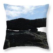 Cornwall Balancing Boulder Throw Pillow