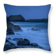 Cornwall Coast Throw Pillow