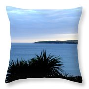 Cornwall Coast Subdued Sunset Throw Pillow