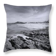 Cornwall Coastline 2 Throw Pillow
