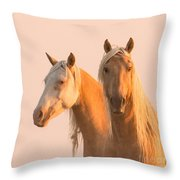 Corona And Cheyenne At Dawn Throw Pillow