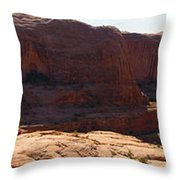 Corona Arch Trail Panorama Throw Pillow