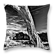 Corona In Black And White Throw Pillow