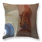 Corona Madonna Throw Pillow