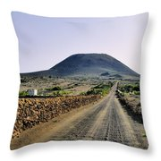 Corona Volcano On Lanzarote Throw Pillow