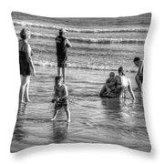 Coronado Beach Tourist Throw Pillow