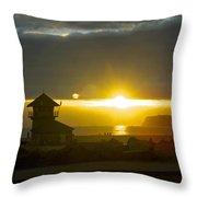 Coronado's Beach At Sunset Throw Pillow