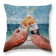 Coronas In The Rain Throw Pillow