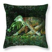 Corporate Predator Throw Pillow