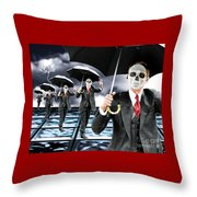Corporate Matrix Clones Throw Pillow