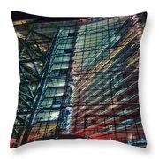 Corporation Throw Pillow