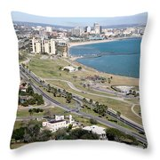 Corps Christi Skyline Throw Pillow