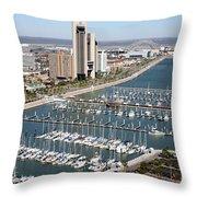 Corpus Christi Marina Aerial Throw Pillow
