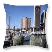 Corpus Christi Marina Throw Pillow