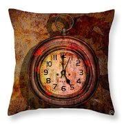 Corroded Time Throw Pillow