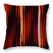 Corrugated Patterns In Orange And Black Throw Pillow