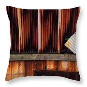 Corrugated Steel Mill Wall Alton Il Throw Pillow