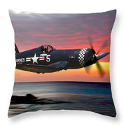 Corsair At Sundown Throw Pillow