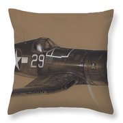 Corsair Triple Ace Throw Pillow by Wade Meyers