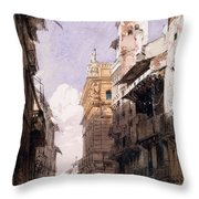 Corso Saint Anastasia, Verona Throw Pillow