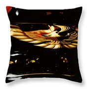Trans Am Against Red Throw Pillow