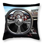 Corvette C1 - In The Driver's Seat Throw Pillow