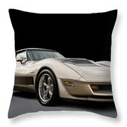 Corvette C3 Throw Pillow
