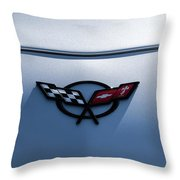 Corvette C5 Badge Throw Pillow