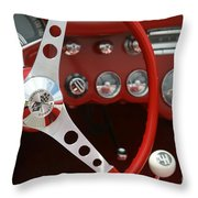 Corvette Classic Red Throw Pillow