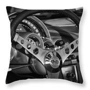 Corvette Cockpit Throw Pillow