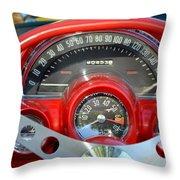 Corvette Dashboard Throw Pillow