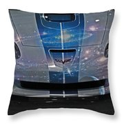 Corvette Is Out Of This World Throw Pillow