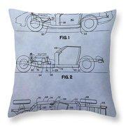 Corvette Patent Throw Pillow