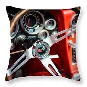 Corvette Steering Wheel Throw Pillow