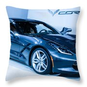 Corvette Stingray Throw Pillow