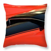 Corvette Torch Throw Pillow