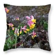 Corydalis In Garden Throw Pillow
