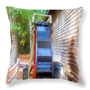 Cosley Mill Waterwheel Throw Pillow
