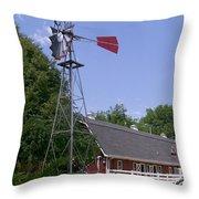 Cosley Zoo Windmill And Barn Throw Pillow